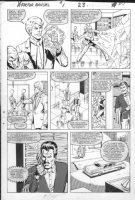 LAYTON, BOB - X-Factor Annual #1 pg 23, Bobby Drake - Iceman double ice powers Comic Art