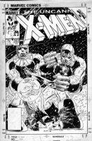 ROMITA Jr, JOHN / AL WILLIAMSON - Uncanny X-Men #202 cover, Wolvie, Rogue, Magneto vs Sentinals Comic Art