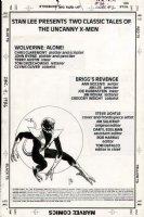 LIGHTLE, STEVE - X-Men Classics #39 Inside Cover, Nightcrawler, for 1st Jim Lee story   Comic Art
