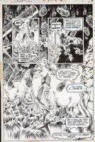 WRIGHTSON, BERNI - Swampthing #8 semi-splash, ST in all panels, full and 2 inserts, HP Lovecraft inspired Comic Art