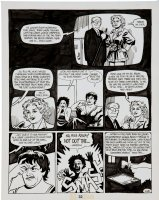 HERNANDEZ, JAIME - Love and Rockets #14 'The Little Monsters' last pg 10, woman of wrestling Comic Art