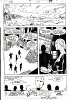 BYRNE, JOHN - Action Comics #595 last pg, Lana Lang & team under Manhunters control Comic Art