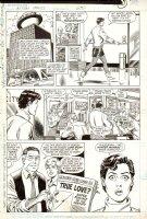 SCHAFFENBERGER, KURT / JERRY ORDWAY - Action Comics #600 pg 3, Lois Lane finds news about Supes & WW romance? Comic Art