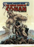 NOREM, EARL - Savage Sword of Conan #70 painted cover, with logo on overlay Comic Art