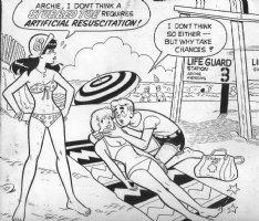 DeCARLO, DAN - Archie Giant - Betty & Veronica Summer Fun #236 cover detail, 1975 Comic Art