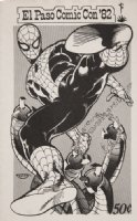 GOLDEN, MICHAEL P/I - El Paso Comic Con book cover 1982 - Spider-Man vs. Doctor Octopus as published Comic Art