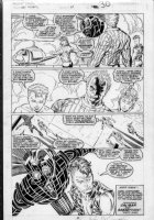 LIEFELD, ROB - New Mutants #89 pg 30, Cable with New Mutants Comic Art
