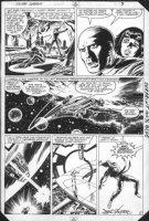 BYRNE, JOHN / PALMER w Stan Lee - Silver Surfer v2 #1 pg 3, origin - Shalla Bal & Norrin defeated - meet Galactus 1982  Comic Art
