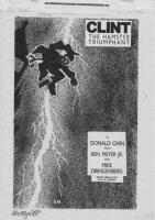 DRINGENBERG, MIKE / KEN MAYER Jr - Clint, Hamster Triumphant (Frank Miller Dark Knight cover homage) Comic Art
