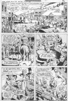 GARCIA LOPEZ, JOSE LUIS - Weird Western Tales #38 pg, Jonah Hex rides into town Comic Art