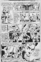 DILLIN DICK / GIORDANO w/ NEAL ADAMS signed - Justice League #108 pg 3, JLA, JSA & origin / 1st storyline of Earth X / Quality Golden-age Heroes Comic Art