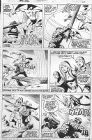 BROWN, BOB / KLAUS JANSON - Marvel Two In One #11 pg 26, Thing vs demons 1975 Comic Art