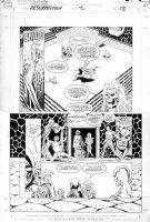 STARLIN, JIM / TERRY AUSTIN - Silver Surfer Resurection #2 large pg 18,  Surfer, Warlock, Pip meet Death Comic Art
