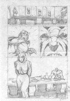 McMANUS, SHAWN - Marvel Comics Presents #108 pencil pg 4,  Thanos & Death Comic Art