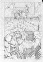 McMANUS, SHAWN - Marvel Comics Presents #108 pencil pg 8,   I, Thanos  Thanos & Death Comic Art