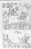 McMANUS, SHAWN - Marvel Comics Presents #108 pencil pg 3,  I, Thanos  Thanos & Death Comic Art