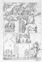 McMANUS, SHAWN - Marvel Comics Presents #108 pencil pg 5,   I, Thanos  Thanos & Death Comic Art