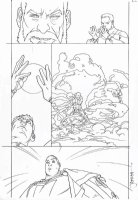MIDDLETON, JOSH - Superman Shazam #? pg, Shazan villain Comic Art