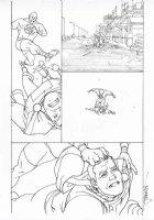 MIDDLETON, JOSH - Superman Shazam #3 pg 6, Shazam vs Eclipso demon Comic Art