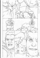 MIDDLETON, JOSH - Superman Shazam #? pg, Shazam vs Shazam Comic Art