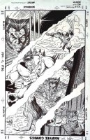 LIEFELD, ROB / TERRY AUSTIN - Wolverine Saga #1 back cover, history of Wolvie Comic Art