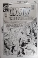 DITKO, STEVE - Ghostly Tales #90 cover, Magic wielding figure with Dr Strange's cloak on display! Large  Silver-Age  size art Comic Art