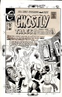DITKO, STEVE - Ghostly Tales #90 cover, Magic wielding figure with Dr Strange's cloak on display! Large  Comic Art
