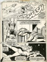 BUCKLER, RICH - Superman vs Shazam DC Treasury #58 pg 55, Superman, Supergirl, Mary Marvel 1978 Comic Art