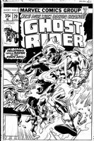 BUCKLER, RICH - Ghost Rider #29 cover, GR vs Doc Strange Comic Art