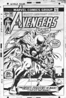BUCKLER, RICH - Avengers #107 cover, Avengers vs giant Grim Reaper 1973 Comic Art
