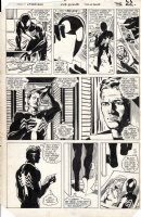 BUCKLER, RICH - Spectacular Spider-Man #108 pg 17, Black Spidey, Death of Jean DeWolff Comic Art