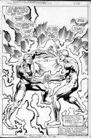 BUCKLER, RICH / KLAUS JANSON - Astonishing Tales #35 full splash, cover scene - Deathlok vs Ryker Comic Art