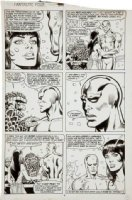 BUCKLER, RICH - Fantastic Four #325 pg 9, Team, Silver Surfer, Mantis Comic Art