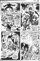 BUCKLER, RICH - Avengers Giant Size #1 pg, 4 panel fight 1974 Comic Art