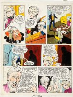 ADAMS, NEAL signed / DICK AYERS  - Food Magazine ink & color pg - attractive female hospital executive & problems 1977 Comic Art
