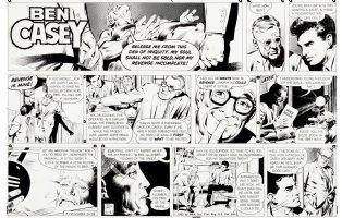 ADAMS, NEAL - Ben Casey 11/21 1965 Sunday, Ben & mental patient Comic Art