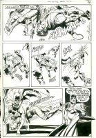 ADAMS, NEAL - Detective Comics #408 pg 12, Batman fights all, 1st Dark Knight revival  Comic Art