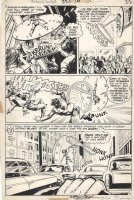 ADAMS, NEAL signed / DICK GIORDANO - Wonder Woman #220 pg 14, Wonder Woman bound to clock face + Atom, 1975 Comic Art