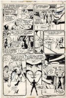 ADAMS, NEAL signed / DICK GIORDANO - Wonder Woman #220 pg 2, JLA called to have Atom test WW on mission 1975 Comic Art
