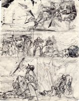 ADAMS, NEAL - Emergency Magazine TV series pg 10 prelim art  Comic Art