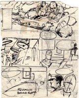 ADAMS, NEAL - Emergency Magazine TV series pg 4 prelim art  Comic Art