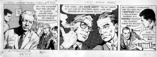 ADAMS, NEAL - Ben Casey daily 12/3 1962 daily, Ben & mentor- Al Jaffee Comic Art