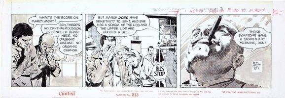 ADAMS, NEAL - Ben Casey daily, 5/7 1964, Ben & consultant, Rare craft-tint artwork!  Comic Art