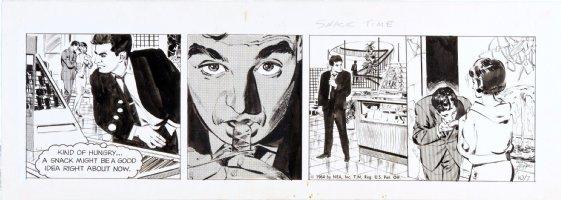 ADAMS, NEAL - Ben Casey daily, 10/7 1964, Ben spots girlfriend Comic Art