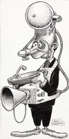 WOLVERTON, BASIL - Sound Machine Man cartoon figure, 1960s Comic Art