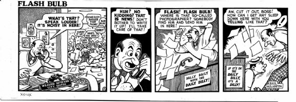 WOLVERTON , BASIL- Flash Bulb daily #1 of only 12, crazy editor & photographer 1950s Comic Art