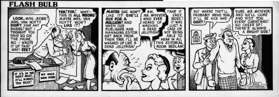 WOLVERTON , BASIL- Flash Bulb daily #12 of only 12, editor & photographer & good-girl babe  Comic Art