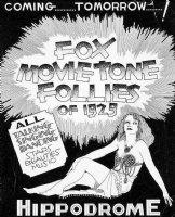 WOLVERTON, BASIL - Fox Movietone Follies 1929, movie ad poster art - lost film - Dixie Lee aka Mrs Bing Crosby Comic Art