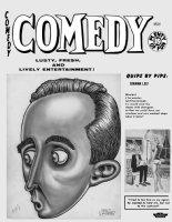 WOLVERTON, BASIL - Comedy Magazine, Timely-Humorama : large Bing Crosby 1940s Comic Art
