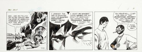 KUBERT, JOE - Big Ben Bolt daily 7-27 1977, in South-West, snake hunts mouse Comic Art